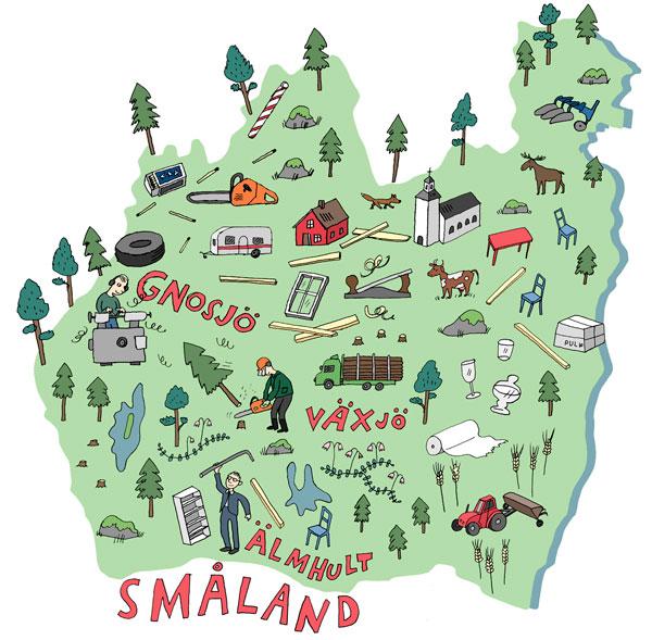 småland karta Blogg: Kartor « Boel Werner småland karta